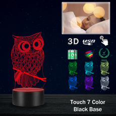 Owl, Decor, lights, Night Light