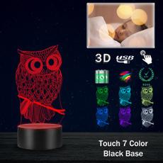 Owl, Decor, lights, Night Light