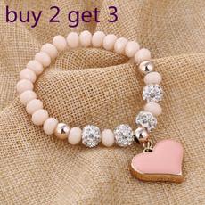 Charm Bracelet, Heart, Jewelry, Vintage