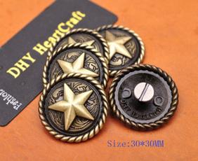 Antique, leathercraftconcho, Star, westernsaddlesconcho