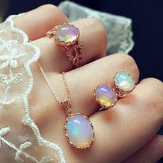 Necklace, opalearring, Fashion, Bridal Jewelry Set