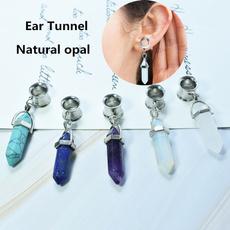 eartunnelplug, Jewelry, earexpander, opals