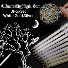 goldhighlighter, Art Supplies, art, whitegelpen