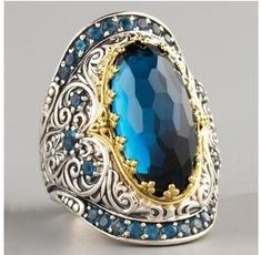 Sterling, ringsformen, Engagement, 925 silver rings