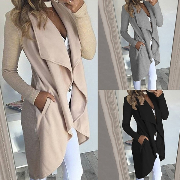 Turn-down Collar, Casual Jackets, Plus Size, Jacket