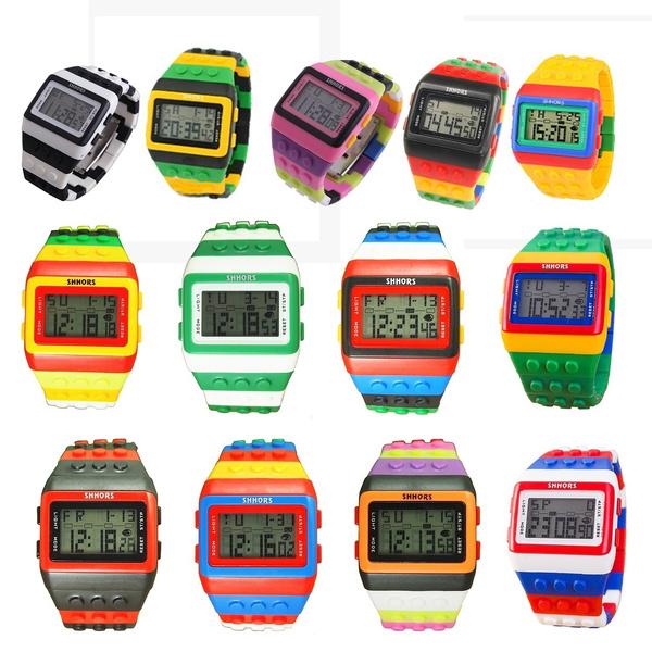 pink, rainbow, led, Waterproof Watch