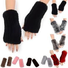 fingerlessglove, fur, Mittens, knittedglove