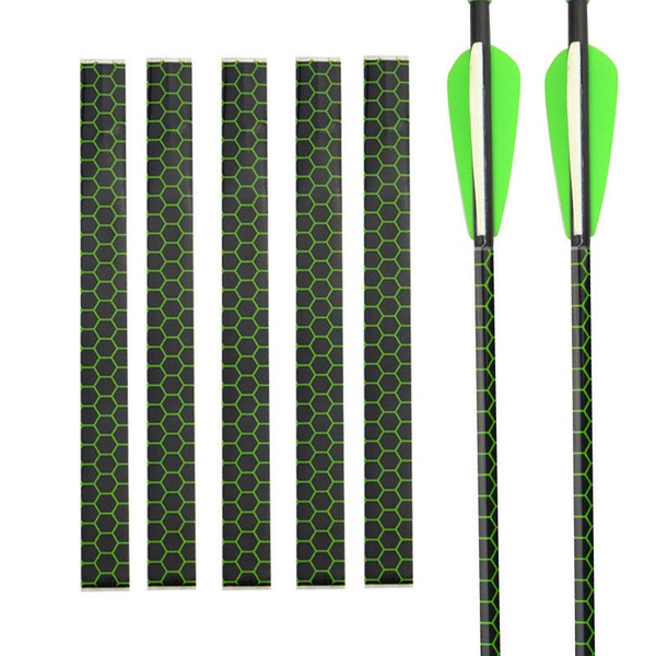 Details about  /15pcs Wooden Arrow Tail Shaft DIY Archery Fiberglass Heat Shrink Repairs Sticker