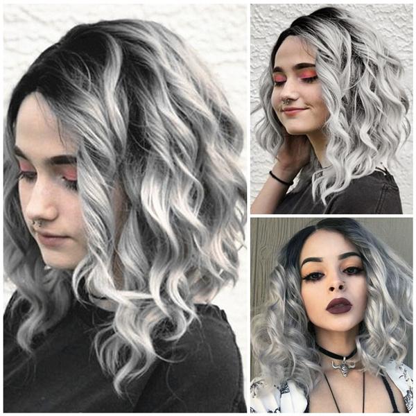 wig, Black wig, graywig, Jewelry