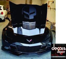 Hood, jake, Corvette, Stickers