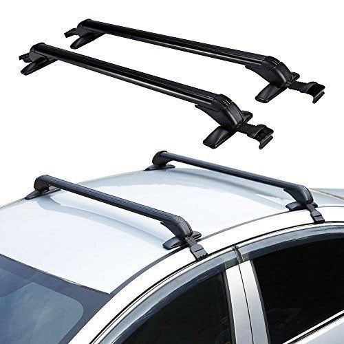 labwork New 43 inch Aluminum Car Top Luggage Roof Rack Cross Bar Carrier Adjustable Window Frame Universal 110CM