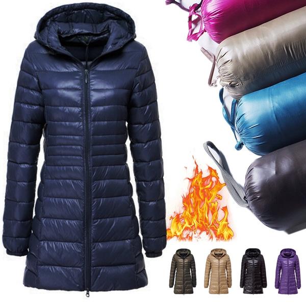 Down Jacket, Plus Size, Winter, Coats & Outerwear