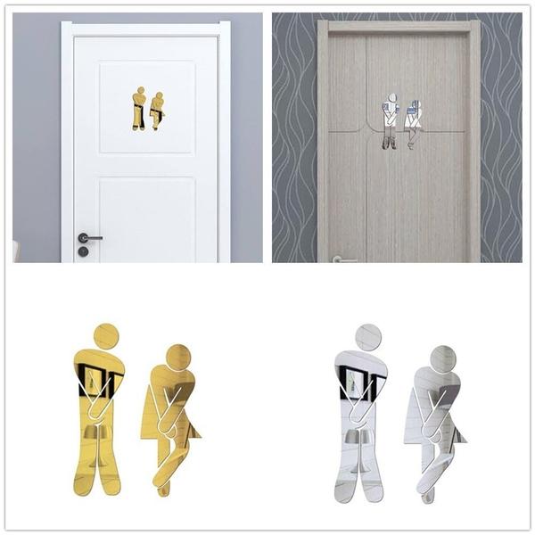 Bathroom, toiletroomsign, Home Decor, Restaurant
