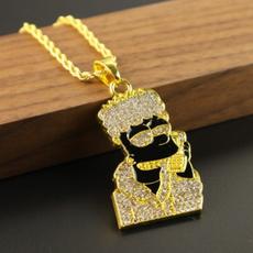 golden, hip hop jewelry, Chain, Mens Accessories