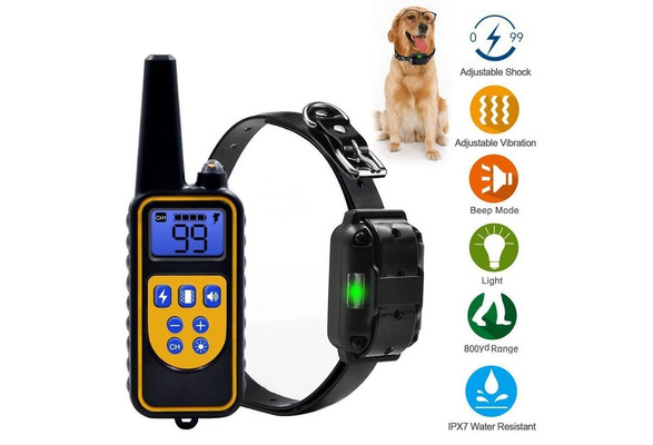 800m Remote Control Pet Dog Training Collar With 99 Levels Of Vibrating Shock With Sound Light Mode Waterproof Ip68 Rechargeable Lcd Electric Remote Training Shock Collar Us Eu Au Uk Plug Erziehungshalsband Hund
