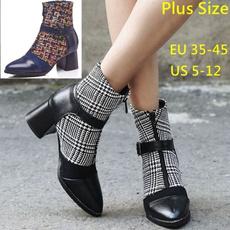 Plus Size, Spring, Dress, Booties