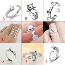 animalring, Silver Ring, Diamant-Ring, catring