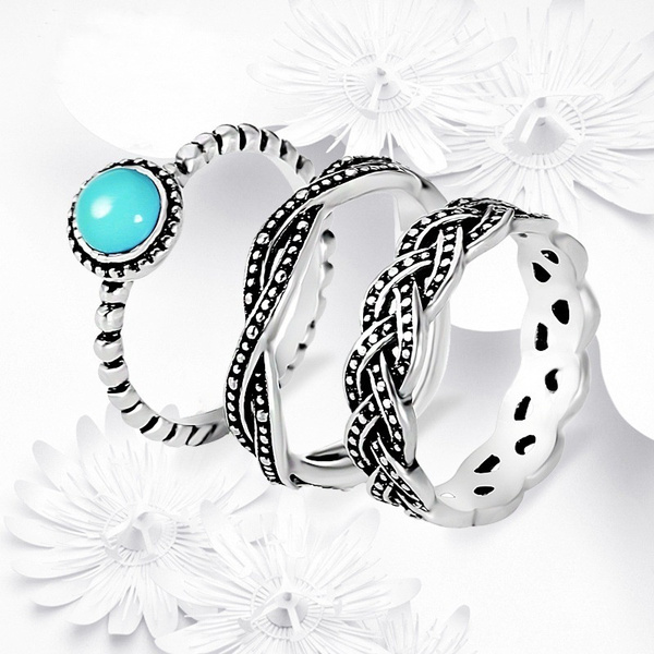 Antique, turquoisering, Turquoise, stackablering
