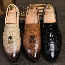 casual shoes, Tassels, mensleatherslipon, leather