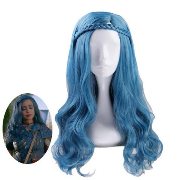 wig, Blues, Cosplay, evie