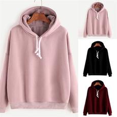 Plus Size, hooded, Sleeve, Women Blouse