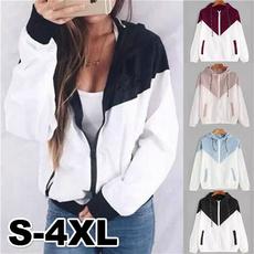 Plus Size, Fashion, Zip, Coat