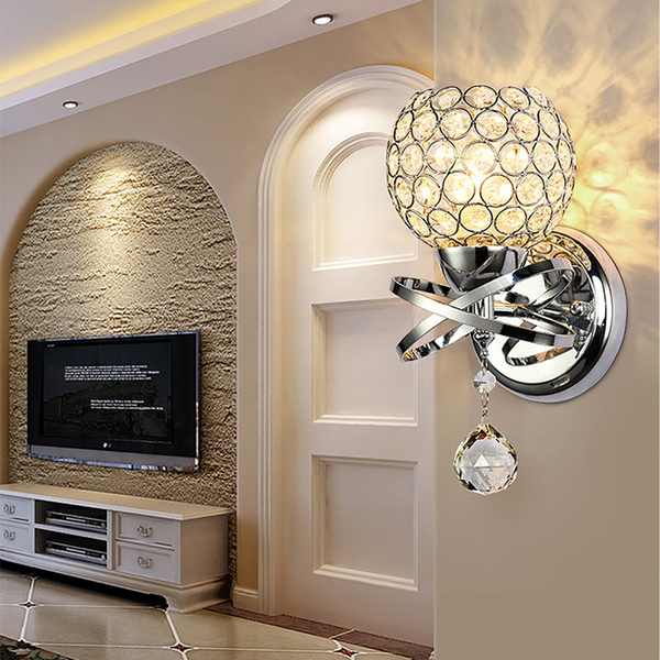 walllight, crystal pendant, modernstyle, led