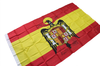spainflag, Polyester, spanisheagleflag, nationalflag