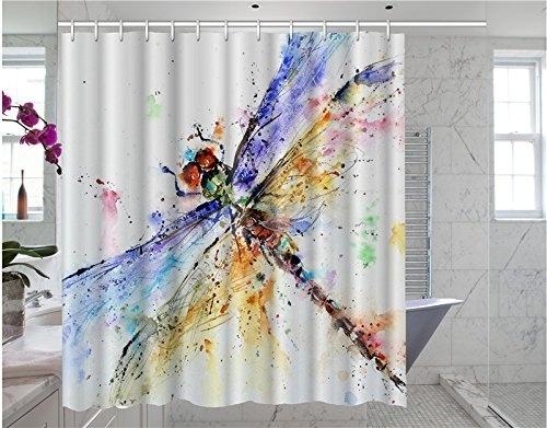dragon fly, Bathroom, Bathroom Accessories, fashionshowercurtain