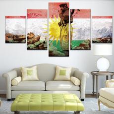 art, Home Decor, kurdistanbanner, kurdistanflag