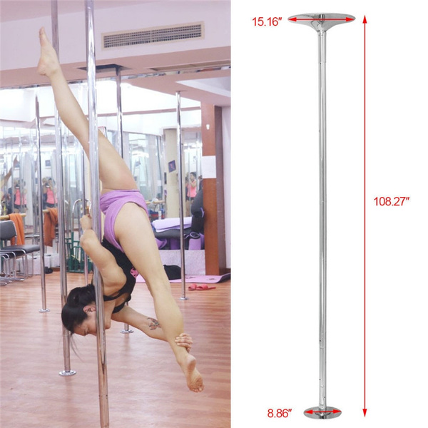 Details about  /45mm Portable Dance Pole Static Spinning Stripper Keep Healthy Exercise Party