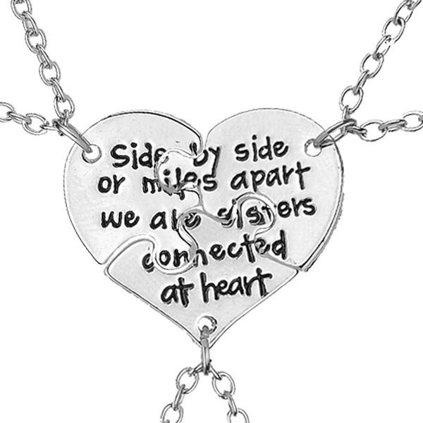 sidebysidenecklace, Fashion, Jewelry, Heart