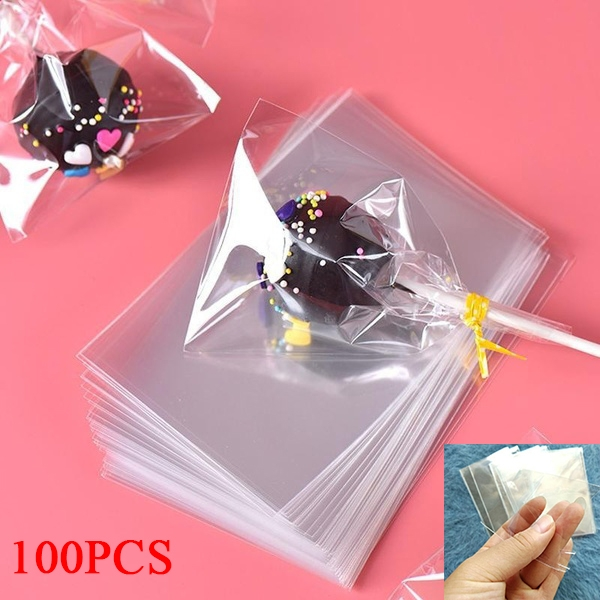 100pcs Bag Transparent Opp Plastic Bags For Candy Lollipop Cookie Packaging Cellophane Bag Wedding Party Gift Bag Wish