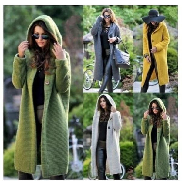 longsweatercoat, hooded, Sleeve, sweater coat