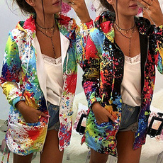 cardigan, multicolour, Coat, Plus Size