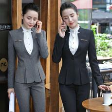 Gray, Plus Size, women pants suit, womenbusinesssuit
