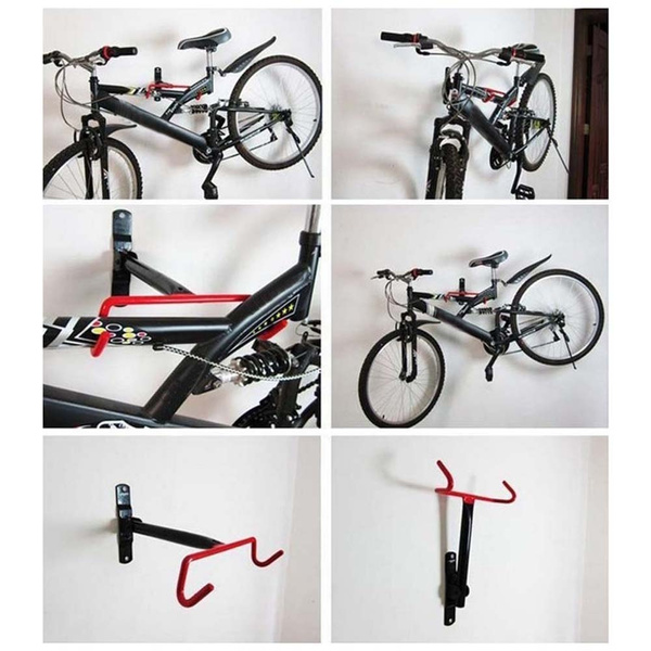 Indoor Outdoor Wall Mount Bicycle Rack Storage System MEIZHEN Storage Of Bike Racks Garage Bike Clip Parking Hanger Hook with Screws