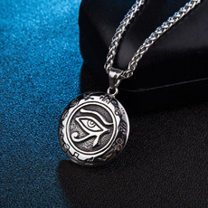 mensfashionpendantnecklace, punk necklace, Jewelry, gold