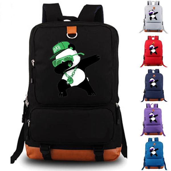 travel backpack, School, dabbingpandafashiontravelbackpack, dabbingpandatravelbackpack
