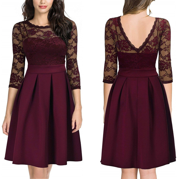 Swing dress, Long Sleeve Dresses, Vintage Dresses, Cocktail