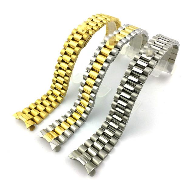 Steel, gold, business watch, Bracelet