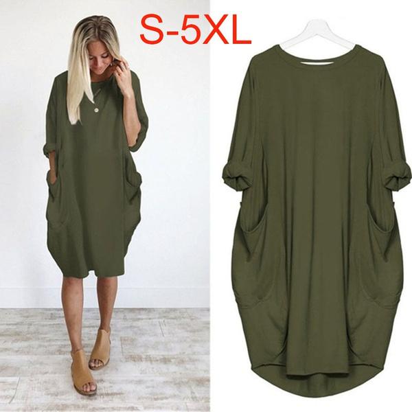 Plus Size, Winter, Long Sleeve, Dress