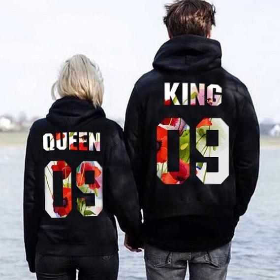 King, hooded, Women Hoodie, men women