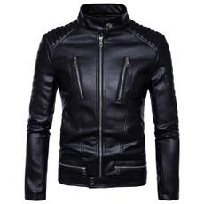 winter fashion, motorcyclejacket, personalityjacket, Invierno