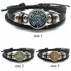 Charm Bracelet, loversgift, blackleatherbracelet, Jewelry