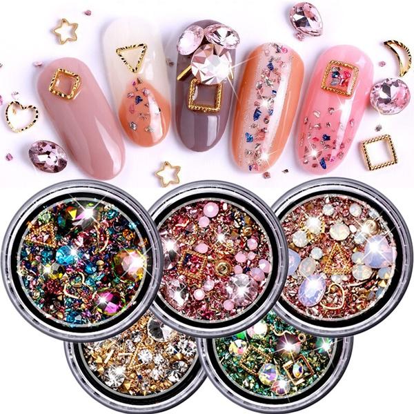 DIAMOND, art, nailjewelry, Colorful