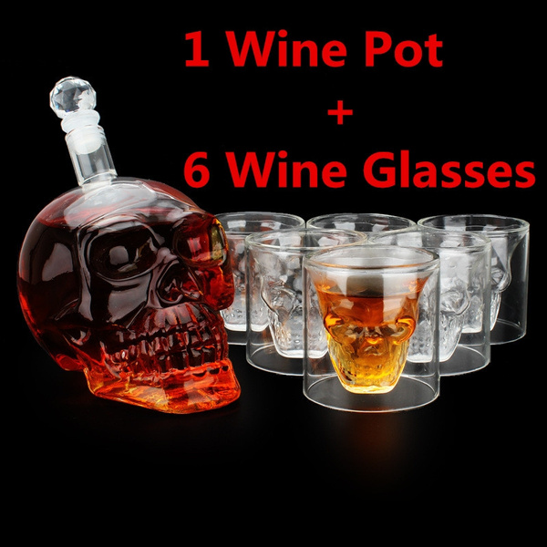 Collectibles, vodka, skull, Home & Living