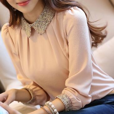 blouse, Chiffon Shirt, Long sleeve top, chiffon