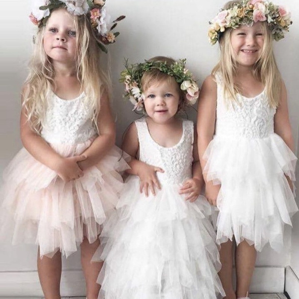 gowns, Baby Girl, Flowers, tullepartydre