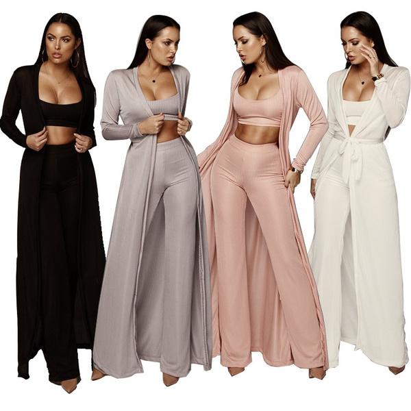 3piecesset, Women Pants, Fashion, Knitting